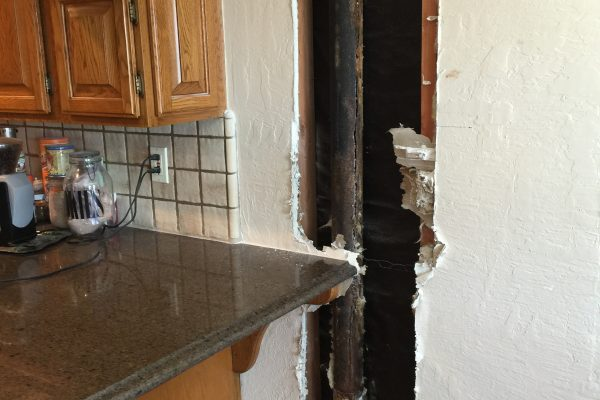 Sewage Damage From Cast Iron Pipe in Ventura, CA