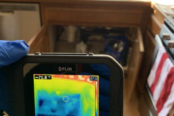 Moisture Mapping, Drain Leak in Temecula,CA