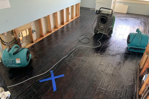 Water Damage Caused By Water Heater In Cardiff, California