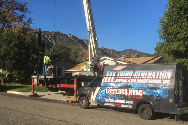 Residential Rooftop Package Unit Replacement Lake Elsinore, California