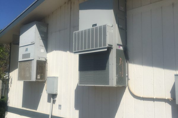 A/C Unit Replacement on Office Trailer in Perris, California