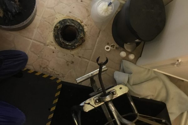 Video Inspection and Repaired Toilet in Escondido, CA