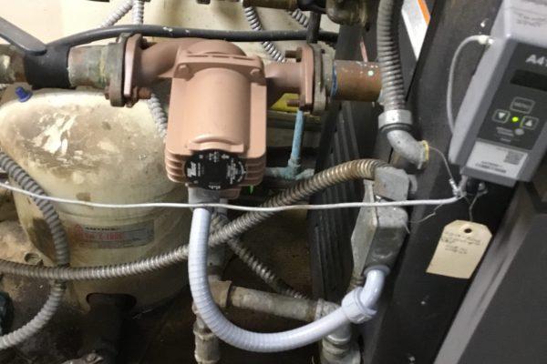 Armstrong boiler pump failure in San Diego, CA