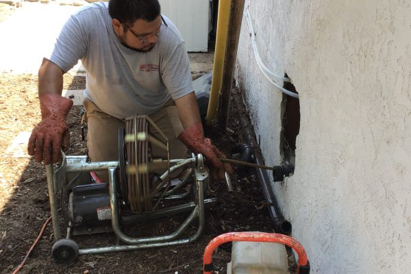 Double Sweep Cleanout Installation and Hydrojetting in Oceanside, CA