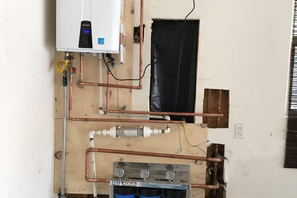 Water Filtration System and Tankless Water Heater Install in Encinitas, CA