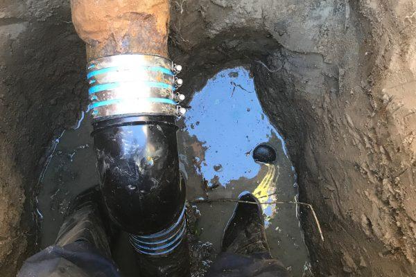 Hydrojetting and Repaired Broken Main Sewer Line in Solana Beach, CA