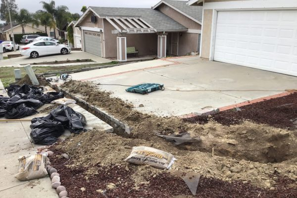 Main Water Line Replacement in Vista, CA.