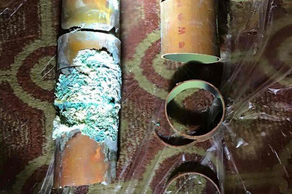 Repaired Leaking Copper Pipe in Ceiling in Solana Beach, CA