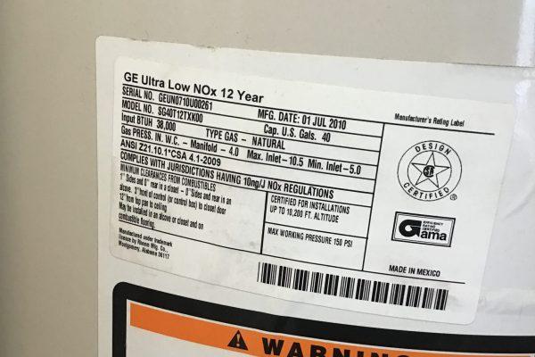 40-Gallon Gas Water Heater Installation in Wildomar, CA