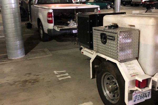 Hydrojetted Parking Garage in San Diego, CA