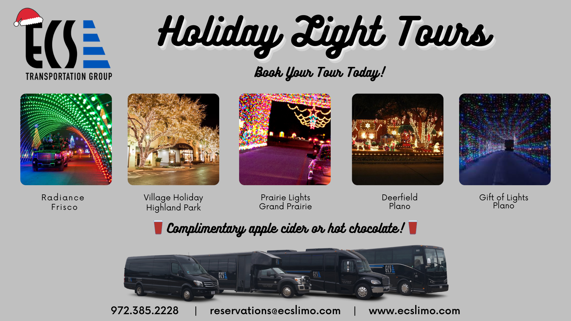 Dallas $99 Holiday Light Tour Specials!