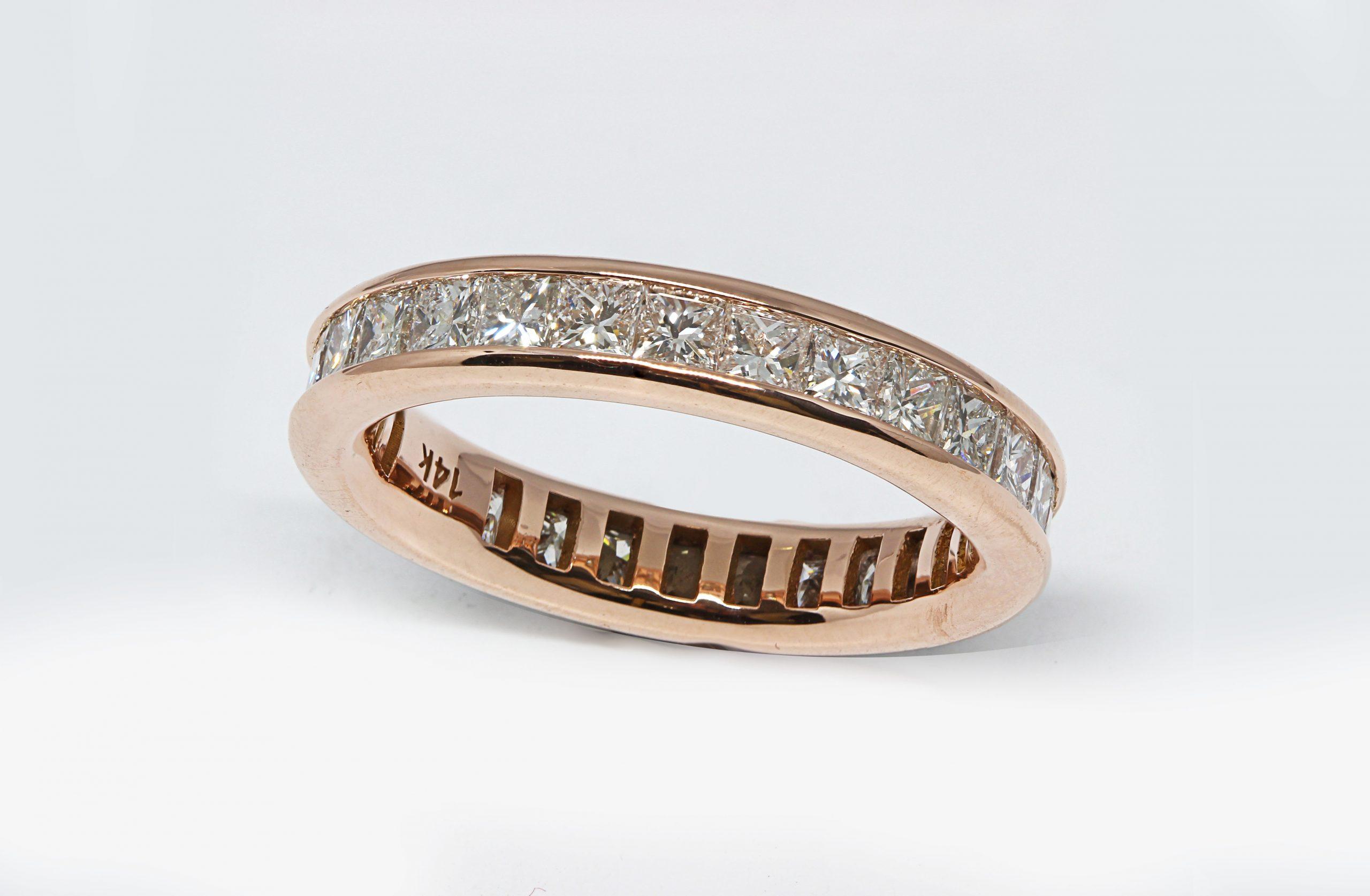 Rose Gold Diamond Eternity Band