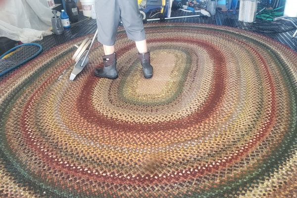Antique Braided Wool Rug Cleaning Riverside, California
