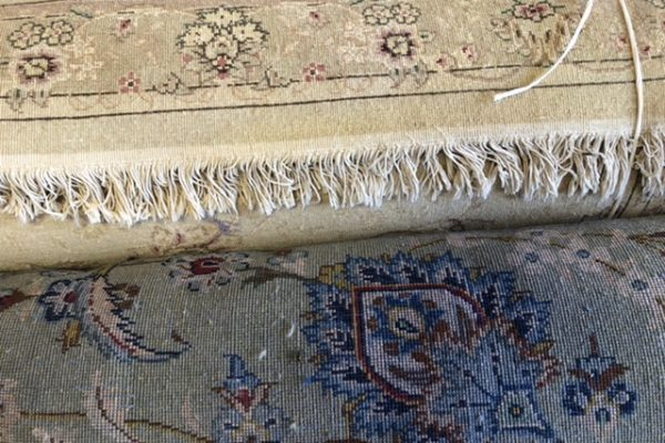 Fringe Cleaning on Wool Turkish Rug