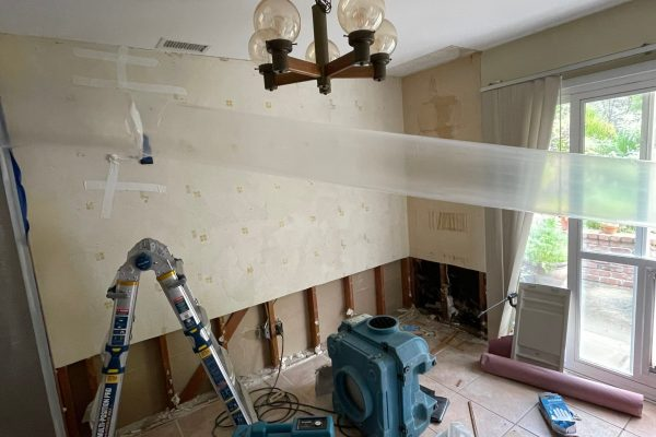 Water Damage From A Toilet Overflow in Spring Valley