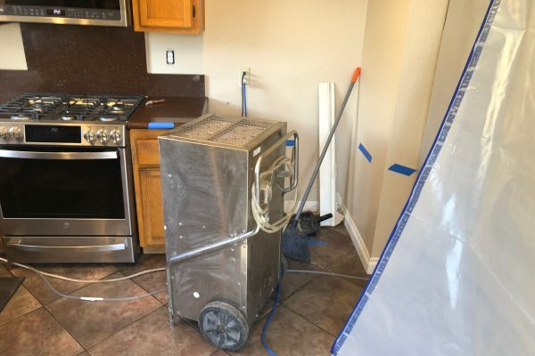 Water Damage From Refrigerator Line in Murrieta